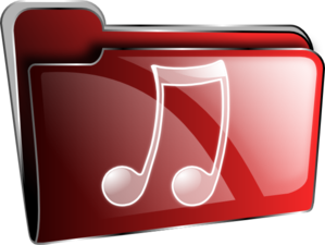 Music Folder Icon Red Clip Art