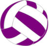 Purple And White Volleyball Clip Art