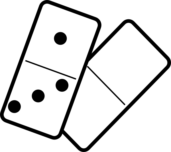 Clipart Falling Dominoes on teaching vector graphics