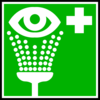 Green Hospital Cross With Eye Clip Art