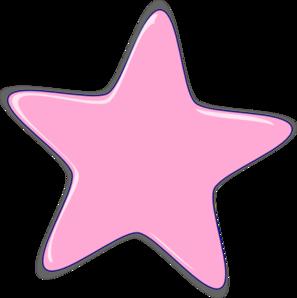 Pink Star Clip Art At Clker Com Vector Clip Art Online