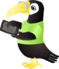 Toucan With Tablet Clip Art