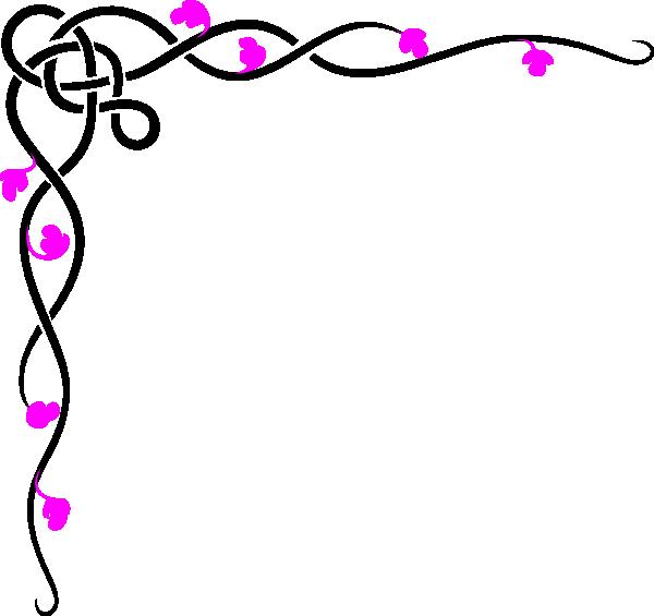 Black And Pink Border Clip Art At Clker Com Vector Clip