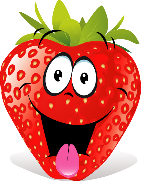 Animated Strawberry Clip Art Cartoon Strawber...