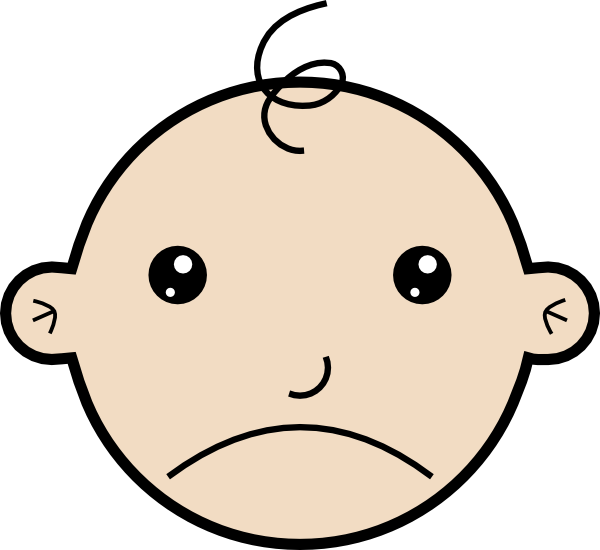 sad baby clip art at clker com vector clip art online animated crying baby clipart baby crying clipart black and white