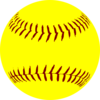 Softball Dark Laces Clip Art