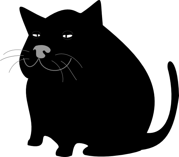 Black Cat / Gato Negro Clip Art at Clker.com - vector clip ... (600 x 526 Pixel)