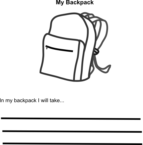 in my backpack    clip art at clker com