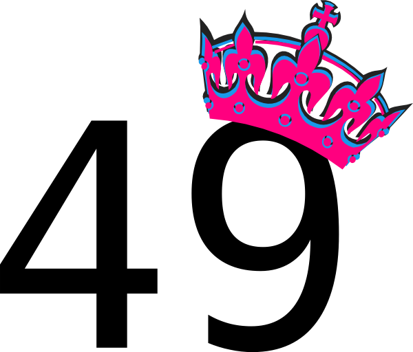Pink Tilted Tiara And Number 49 Clip Art At Clker Com