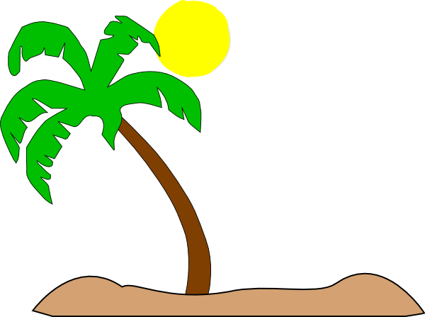 Double Palm Beach Clip Art At Clker Com Vector Clip Art