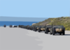 Elements Of The 1st And 3rd Light Armored Reconnaissance (lar) Units Line Up To Be Loaded On To Landing Craft Air Cushion (lcac) Vehicles. Clip Art
