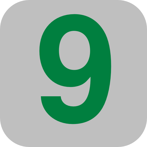 Number 9 Grey Flat Icon Clip Art At Clker Com