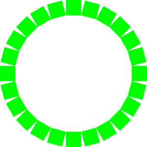 Circle Of Square In Green Clip Art