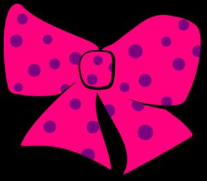 Bow With Polka Dots Clip Art At Clker Com Vector Clip