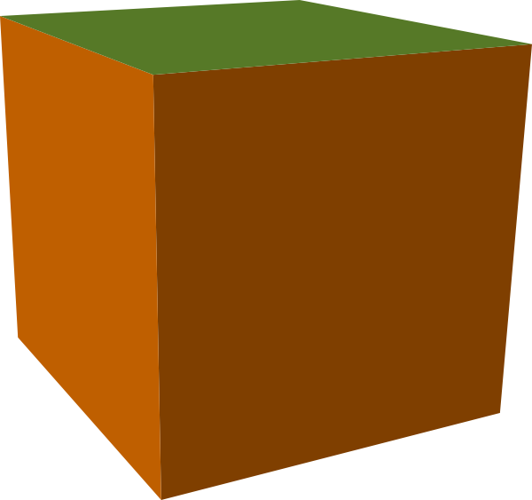 Brown Green Cube Clip Art At Clkercom Vector Clip Art