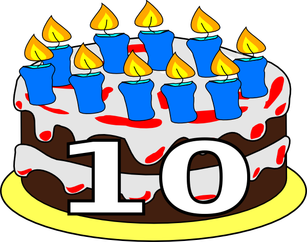 10th Birthday Cake Dom Clip Art At Clker Com Vector Clip