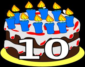 10th Birthday Cake Dom Clip Art At Clker Com Vector Clip