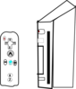 Wii Device With Joystick Clip Art