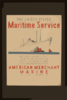 The United States Maritime Service Offers Practical Training Courses For Licensed And Unlicensed Men Of The American Merchant Marine  / Halls. Clip Art