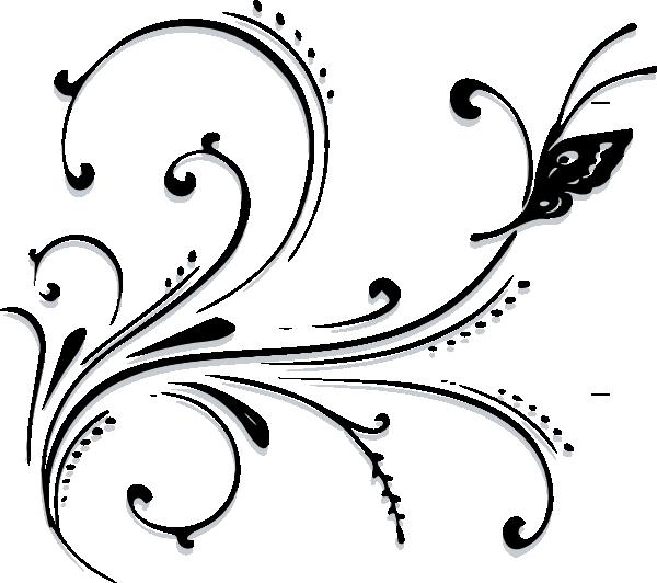 butterfly scroll clip art at clker com
