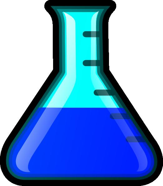 Blue Flask Clip Art At Clker Com