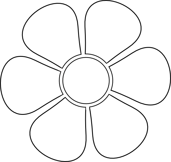 Daisy stencil clip art at vector clip art for Daisy cut out template