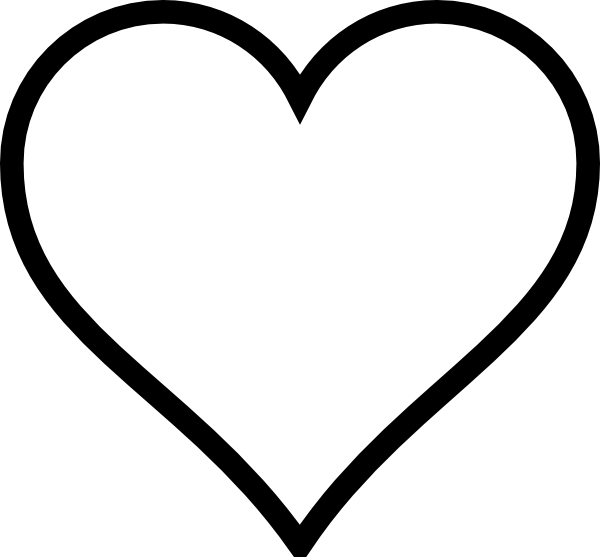 Line Art Heart Outline : Thick line heart clip art at clker vector