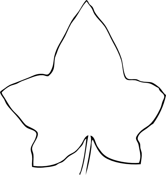 Simple Line Drawing Clip Art : Line drawing leaf clip art at clker vector