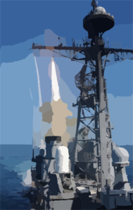 Uss Bunker Hill Fires Sm-2 Surface-to-air Missile Clip Art