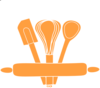Orange Kitchen Utensils Clip Art