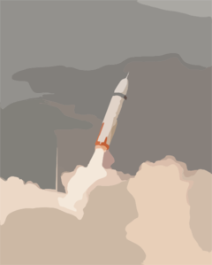 Air Force File Photo Of The First Launch Of A Trident Missile Clip Art
