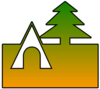Tent And Tree Cutout Clip Art
