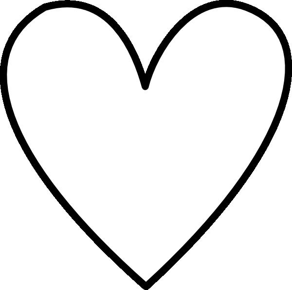 White Heart Outline Clip Art At Vector Clip