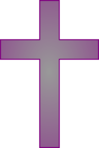 Purple And Gray Cross Clip Art