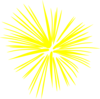 Large Yellow Fireworks Clip Art