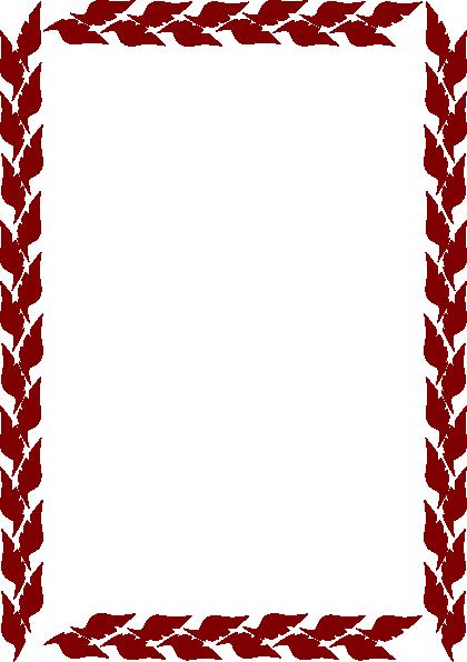 burgandy leafs border clip art at clkercom vector clip