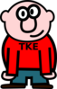 Cartoon Man In Red Shirt Clip Art
