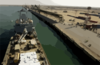 The Royal Fleet Auxiliary, Landing Ship Logistic Rfa Sir Galahad (l 3005) Arrives In The Iraqi Port City Of Umm Qsar Clip Art