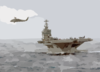Sea Hawk Flies Over The Uss George Washington Clip Art