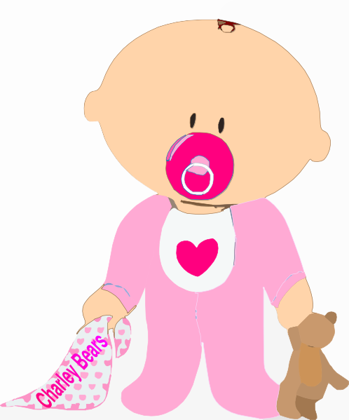 Cute cartoon baby girl Royalty Free Vector Image