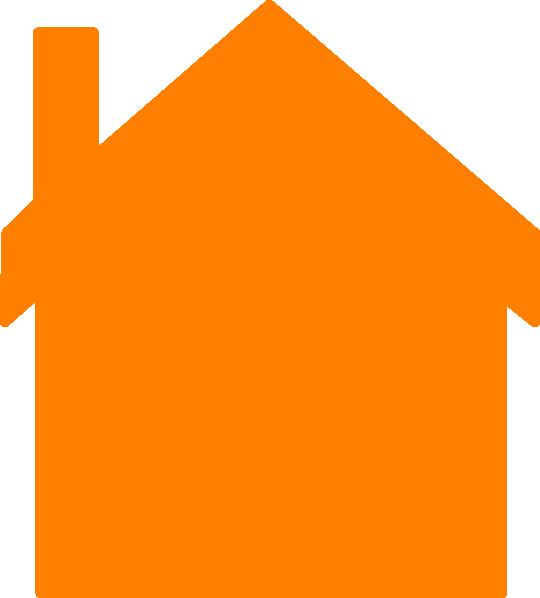 Orange House Clip Art at Clker.com - vector clip art online, royalty free &  public domain
