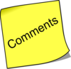Note Comment Clip Art