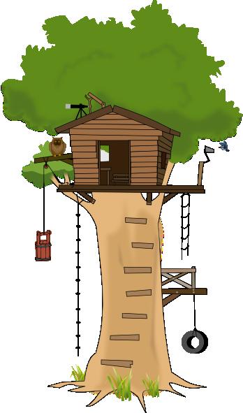 Tree House Clip Art at Clker.com - vector clip art online ...
