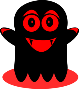 Black And Red Ghost Clip Art