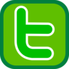 Simple Twitter Icon Green Clip Art