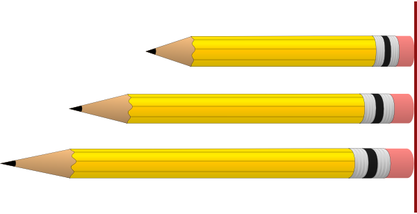 pencils in various lengths clip art at clker com vector picture of pencil and paper clipart Pencil Drawings