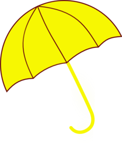 Yellow Umbrella Clip Art at Clker.com - vector clip art ...