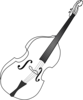 Double Bass (b And W) Clip Art