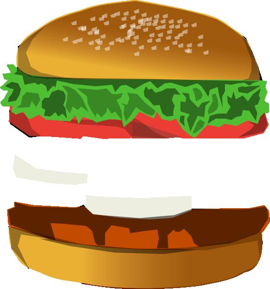 Burger with space clip art at vector clip art for Hamburger clipart