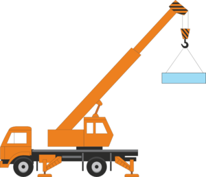 Clipart Crane on Build Truck